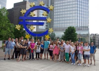 2014.06.09–13. Frankfurtban jártak a pénzügyes közgazdászhallgatók